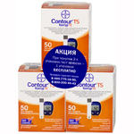 КОНТУР ТС тест-полоски N50х3 Bayer Consumer Care AG  1/3